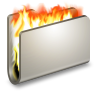 96x96px size png icon of Burn Metal Folder