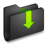 96x96px size png icon of Downloads Black Folder