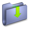 96x96px size png icon of Downloads Blue Folder