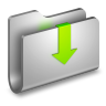 96x96px size png icon of Downloads Metal Folder