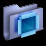 96x96px size png icon of DropBox Blue Folder