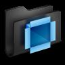 96x96px size png icon of Dropbox Black Folder