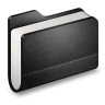 96x96px size png icon of Library Black Folder