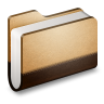 96x96px size png icon of Library Brown Folder