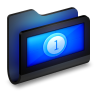 96x96px size png icon of Movies Black Folder