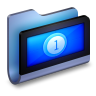 96x96px size png icon of Movies Blue Folder