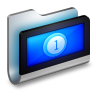 96x96px size png icon of Movies Metal Folder