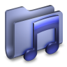96x96px size png icon of Music Blue Folder