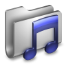 96x96px size png icon of Music Metal Folder