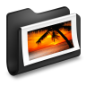 96x96px size png icon of Photos Black Folder