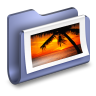 96x96px size png icon of Photos Blue Folder