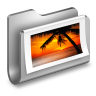 96x96px size png icon of Photos Metal Folder