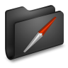 96x96px size png icon of Sites Black Folder