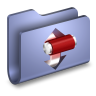 96x96px size png icon of Torrents Blue Folder
