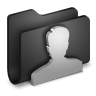 96x96px size png icon of User Black Folder