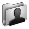 96x96px size png icon of User Metal Folder
