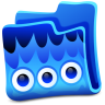 96x96px size png icon of blue folder
