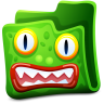 96x96px size png icon of green folder