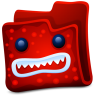 96x96px size png icon of red folder