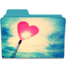 96x96px size png icon of Folder Heart