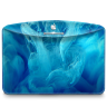 96x96px size png icon of Folder Abstract Blue Smoke