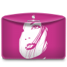 96x96px size png icon of Folder Girl Pink