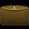 96x96px size png icon of Folder Pattern Stripes Warning