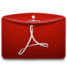 96x96px size png icon of Folder Text PDF Logo