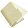 96x96px size png icon of folder flower beige