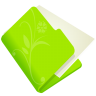 96x96px size png icon of folder flower green