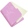96x96px size png icon of folder flower lila