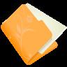 96x96px size png icon of folder flower orange