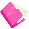 96x96px size png icon of folder flower pink