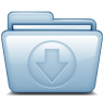 96x96px size png icon of Blue Download