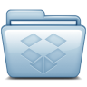 96x96px size png icon of Blue Dropbox