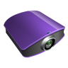 96x96px size png icon of projector violet