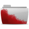 96x96px size png icon of Folder Bloody Gray