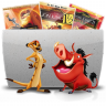 96x96px size png icon of Folder TV Lion