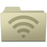 96x96px size png icon of AirPort Folder Ash