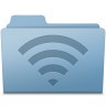96x96px size png icon of AirPort Folder Blue