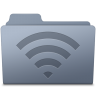 96x96px size png icon of AirPort Folder Graphite
