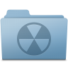96x96px size png icon of Burnable Folder Blue