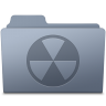96x96px size png icon of Burnable Folder Graphite