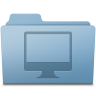96x96px size png icon of Computer Folder Blue