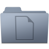 96x96px size png icon of Documents Folder Graphite