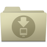 96x96px size png icon of Downloads Folder Ash