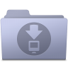 96x96px size png icon of Downloads Folder Lavender