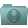 96x96px size png icon of Downloads Folder Willow