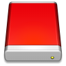 96x96px size png icon of External Drive Red