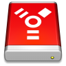 96x96px size png icon of Firewire Drive Red